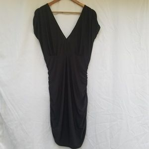 BCBGMaxAzria black mini dress large sleeveless